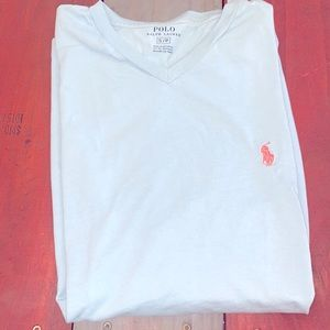 3 For $20 Polo Light Blue V-Neck T-Shirt Size S